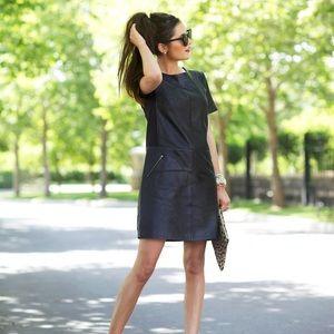 Halogen Faux Leather Dress